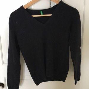 Blue simple sweater